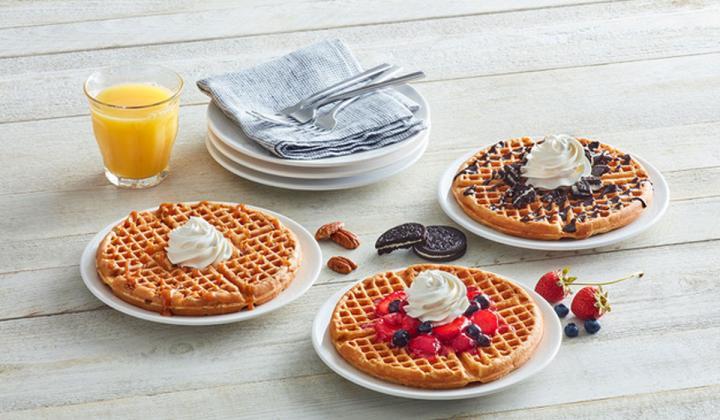 Waffles at Huddle House.