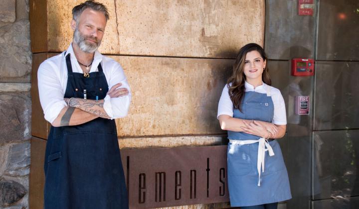 Sanctuary on Camelback Mountain's Bar Chef Christiaan Röllich and Chef de Cuisine Samantha Sanz.