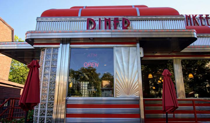 Exterior of a diner.