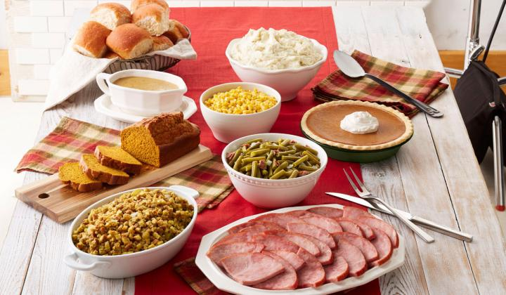 Bob Evans Thanksgiving feast.