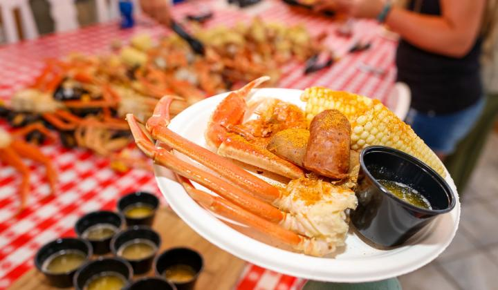 Outer Banks Boil Company crab.