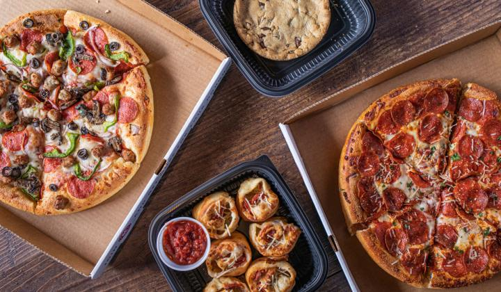 Old Chicago Pizza & Taproom pizza bundle.