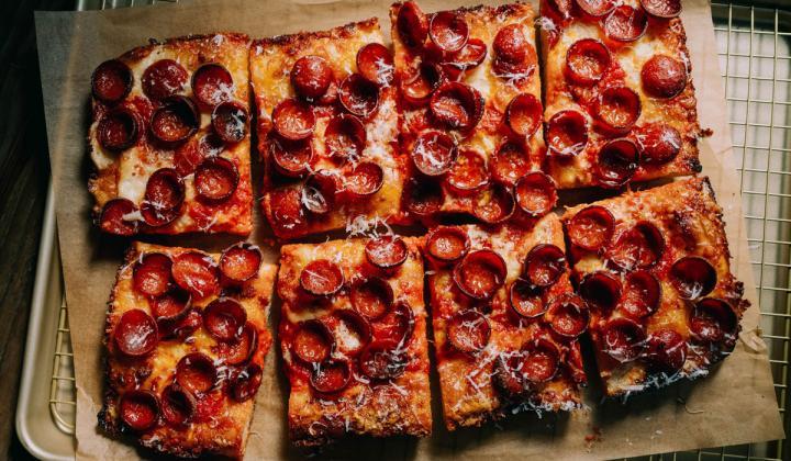Fly Bye pizza.