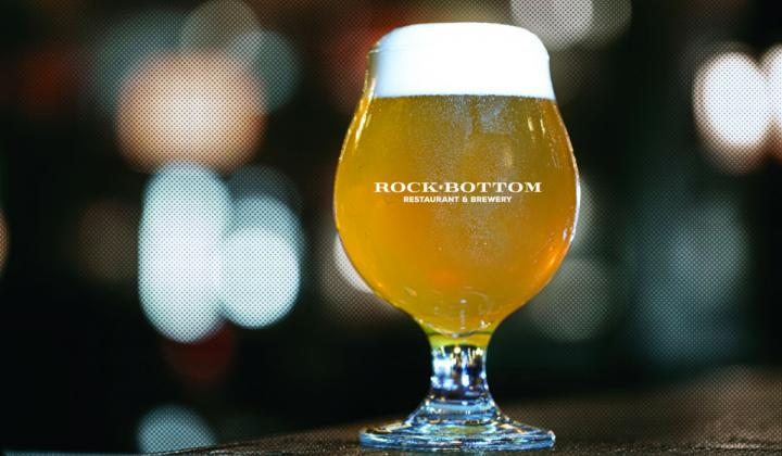 Rock Bottom Restaurant & Brewery beer in a glass.
