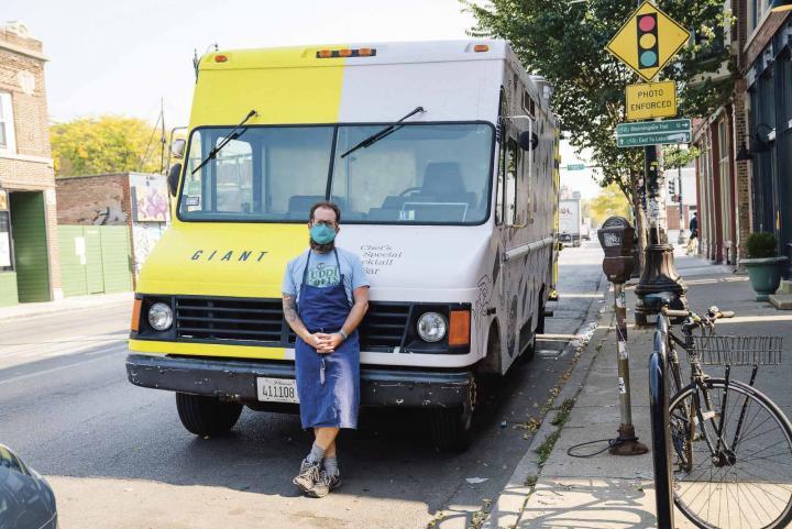 Giant chef/co-owner Jason Vincent