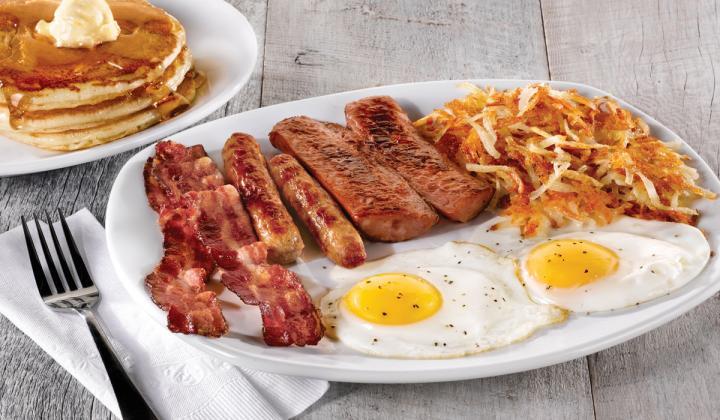 Perkins Restaurant & Bakery breakfast platter.