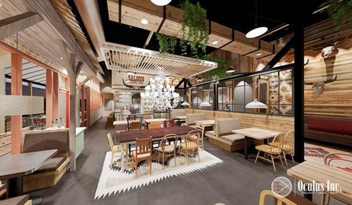 Ruby Red's BBQ rendering of interior.