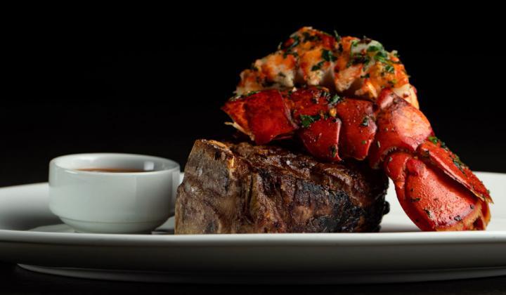 STK steak and lobster.