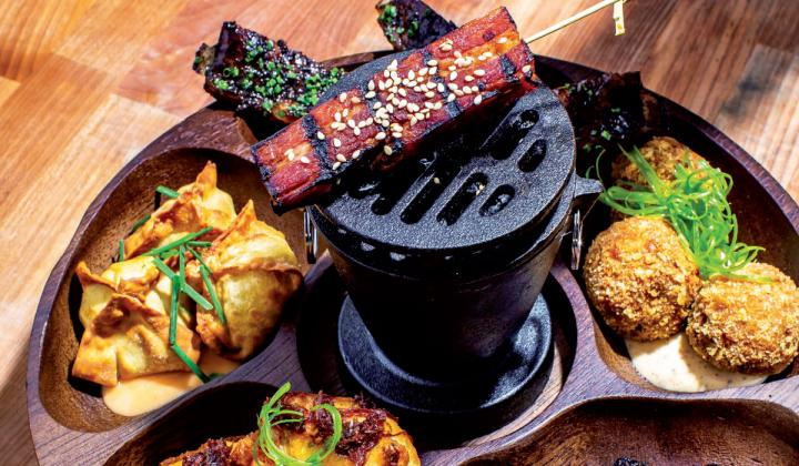 Global meets New American with bites like Hawaiian Pork Belly and Boudin with Creoleaise at Tchefuncte's.