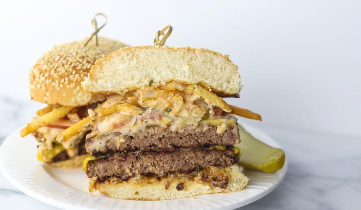 Livy's Plant Based Foods burger.