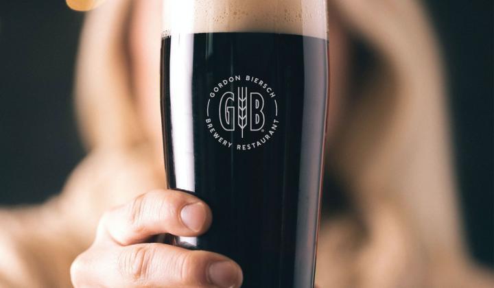 Gordon Biersch beer.