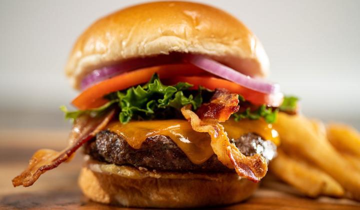 Glory Days Grill burger.