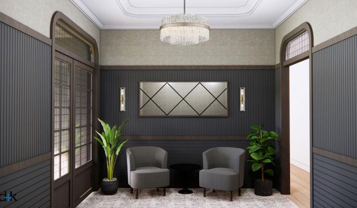 D+K ARCHITECTURE interior rendering.