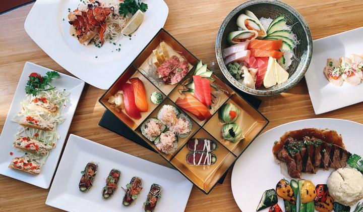 Douzi Sushi platter of sushi.