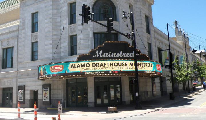 Exterior of Alamo Drafthouse.
