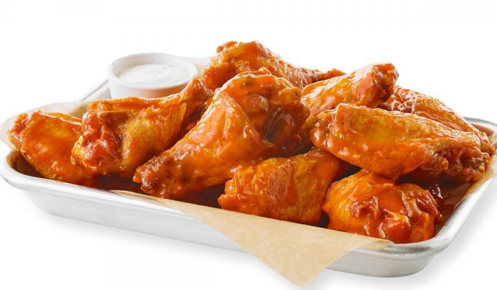 Buffalo Wild Wings basket of wings.