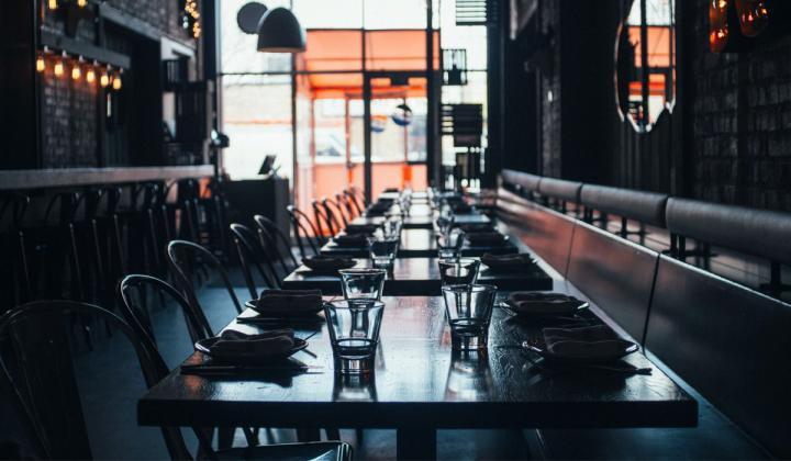 Interior of an empty restaurant.