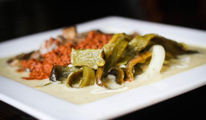 Antiguo Lobo food on a white dish.