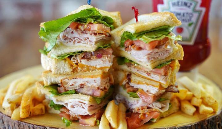 Toasted Yolk Café sandwiches.