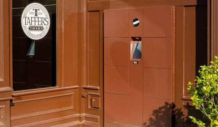 Taffer's Tavern locker system outside the restaurant.