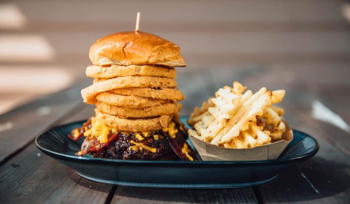 Walk-On's Hickory Burger.