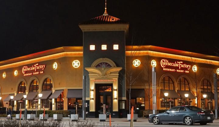 Exterior of The Cheesecake Factory.
