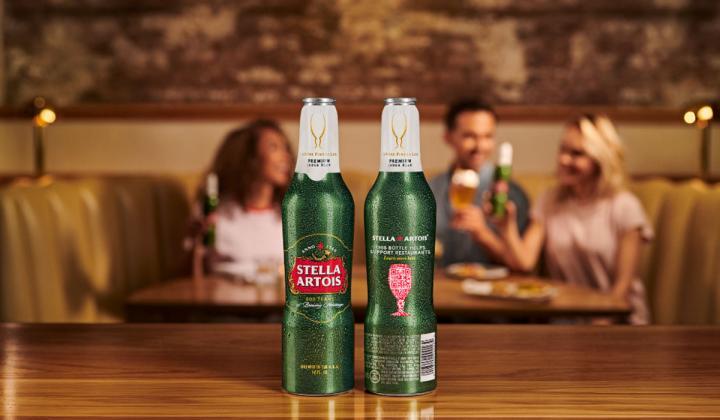 Stella Artois bottle.