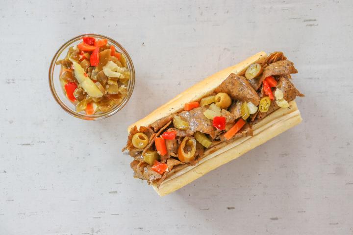 Buona beefless sandwich