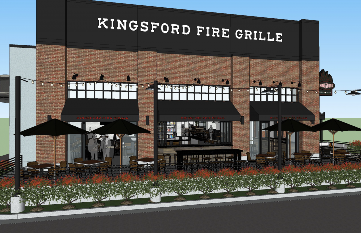 Rendering of Kingsford Fire Grille