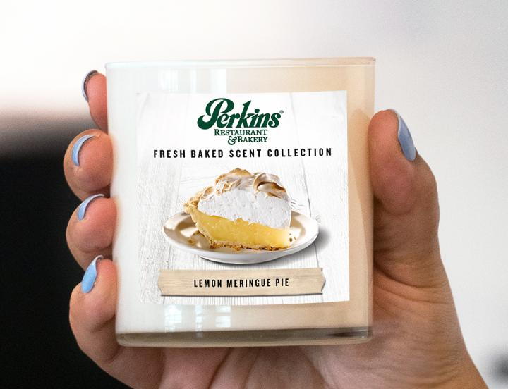 Perkins scented candle.