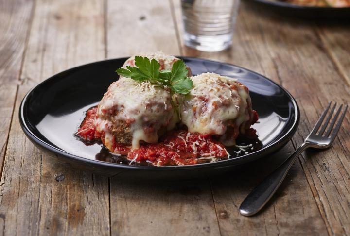 Ynot Italian's Colossal Meatballs.