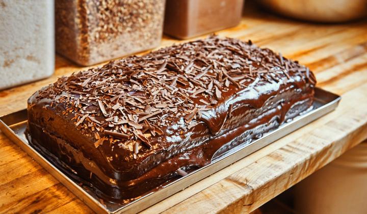 Cleburne Cafeteria Chocolate Cake
