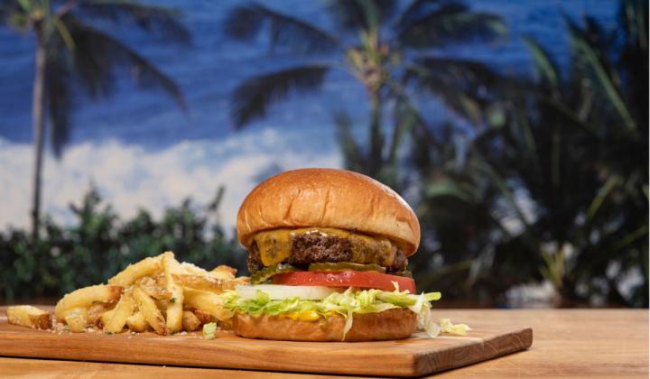 Island Restaurants Big Wave Cheeseburger