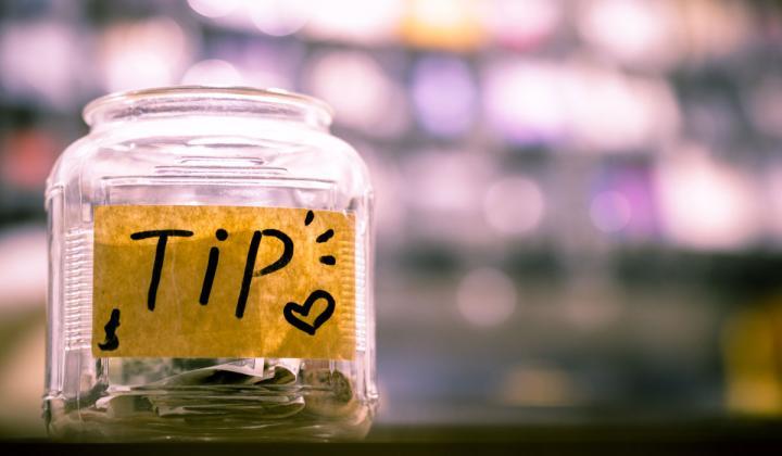 Tip jar.
