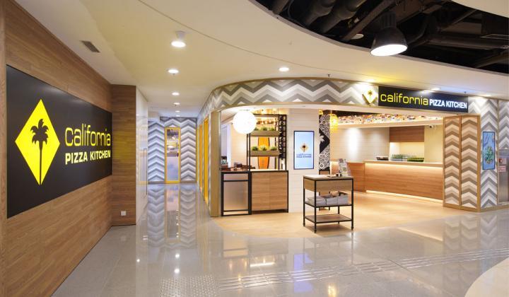 Interior of California Pizza Kitchen in Hong Kong