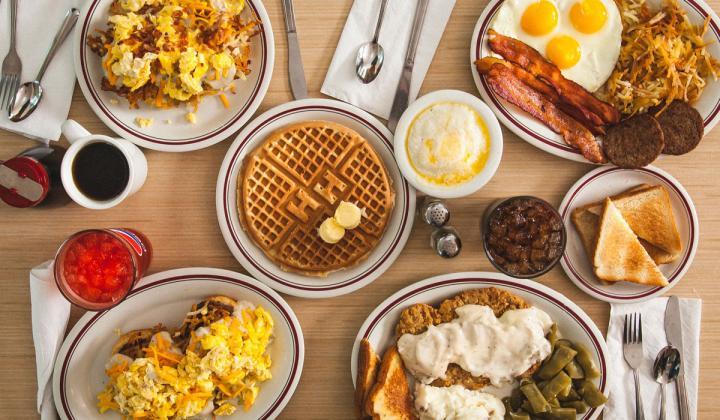 Huddle House menu selections