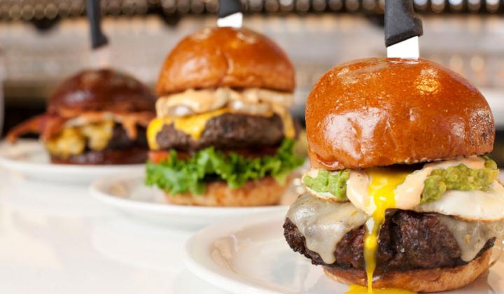 Slater's 50/50 burgers