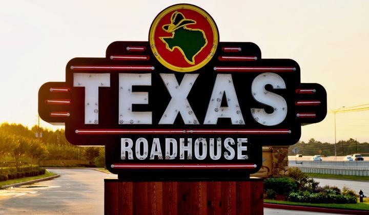 Texas Roadhouse sign.