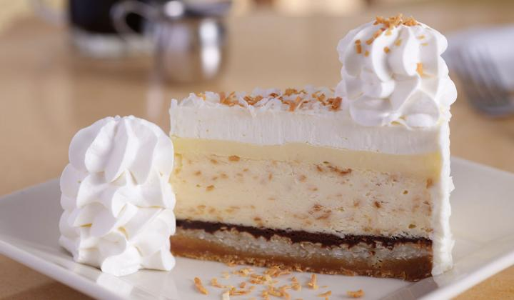 Cheesecake Factory coconut cream pie cheesecake