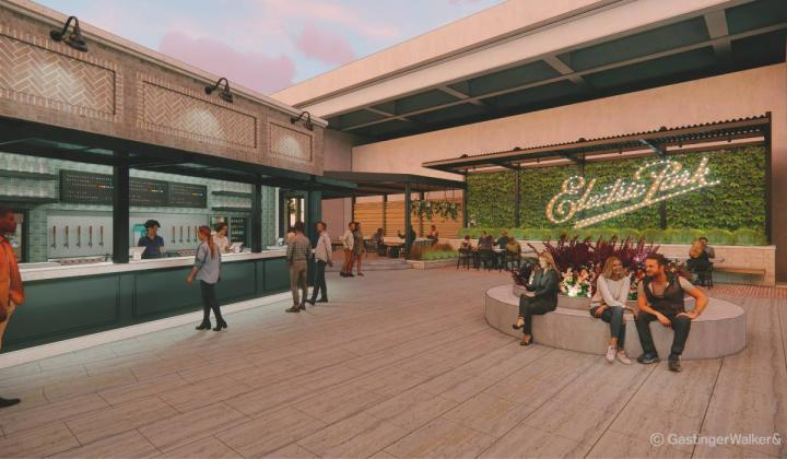Electric Park Garden Bar rendering
