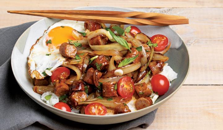 Breakfast Sausage Stir Fry