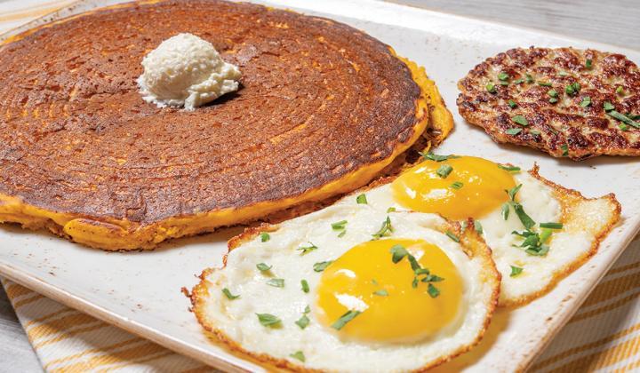 First Watch pumpkin pancakes.