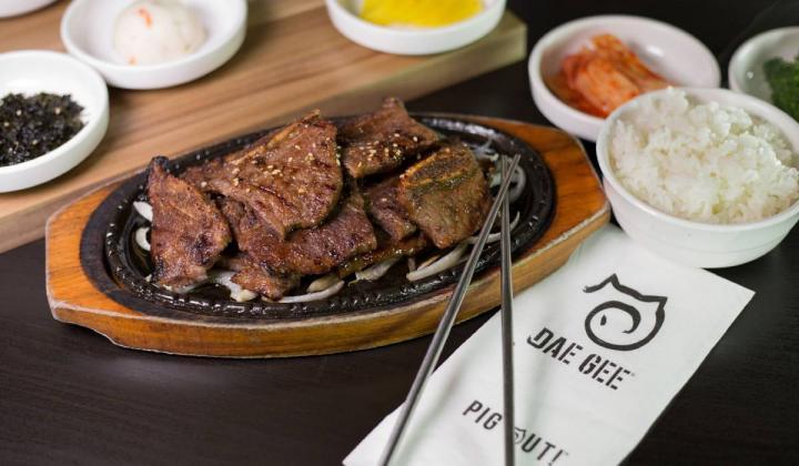 Dae Gee Korean BBQ food.