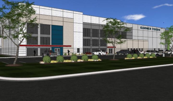 Garner Foods facility rendering.
