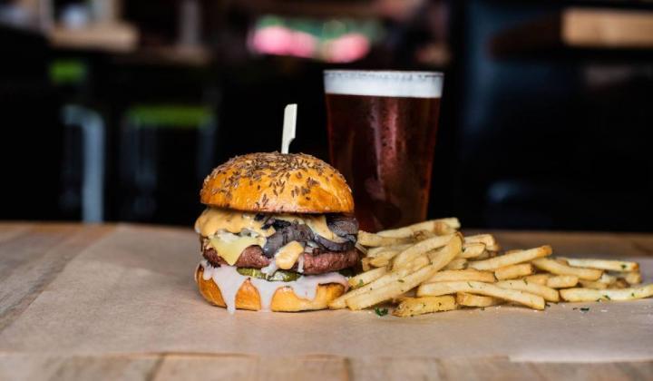 Hopdoddy Burger Bar plant-based burger