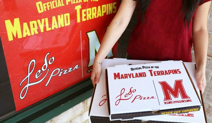 Ledo Pizza Maryland box.