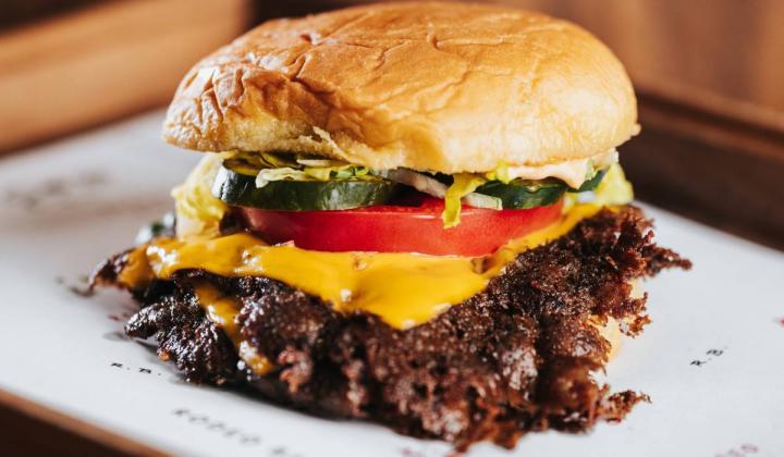 Rodeo Bar burger.