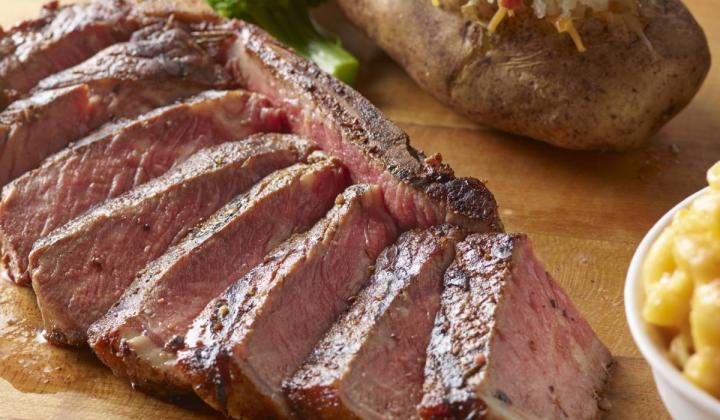 Smokey Bones strip steak