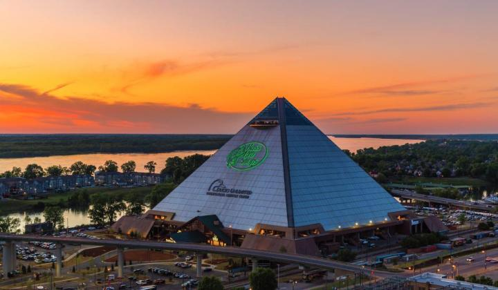 Bass Pro Shops Pyramid in Memphis, Tennessee.