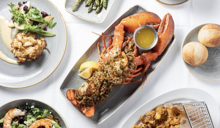 Legal Sea Foods menu.